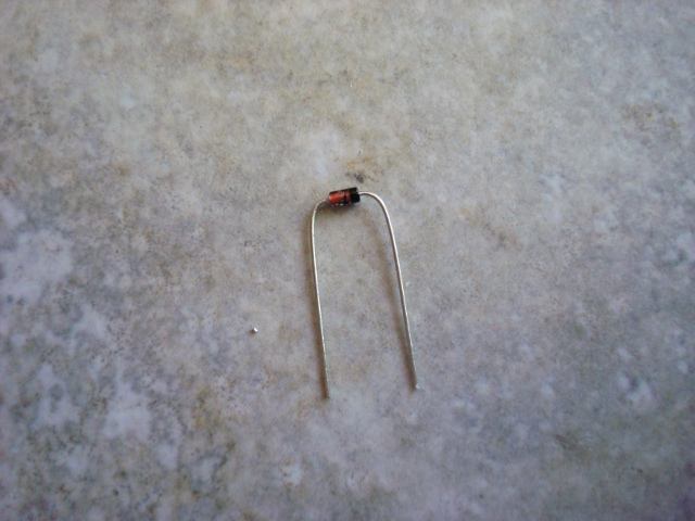 A picture of the bent diode.