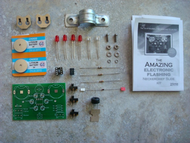 A picture of all of the parts included in the kit.