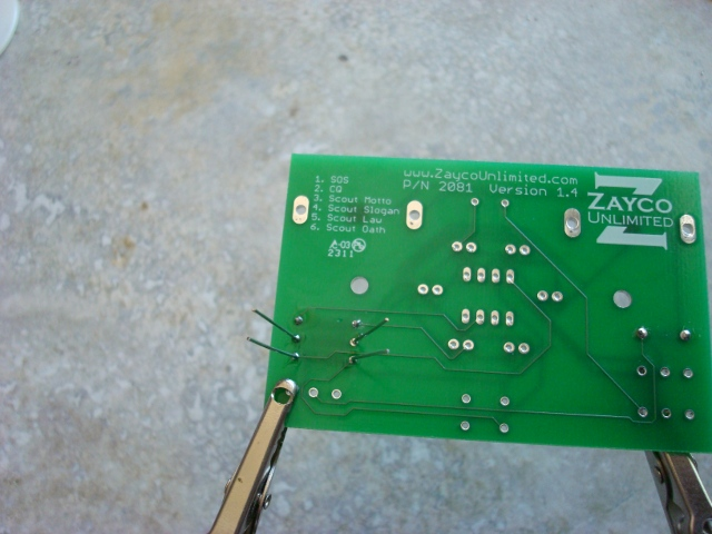 A picture of the printed circuit board.